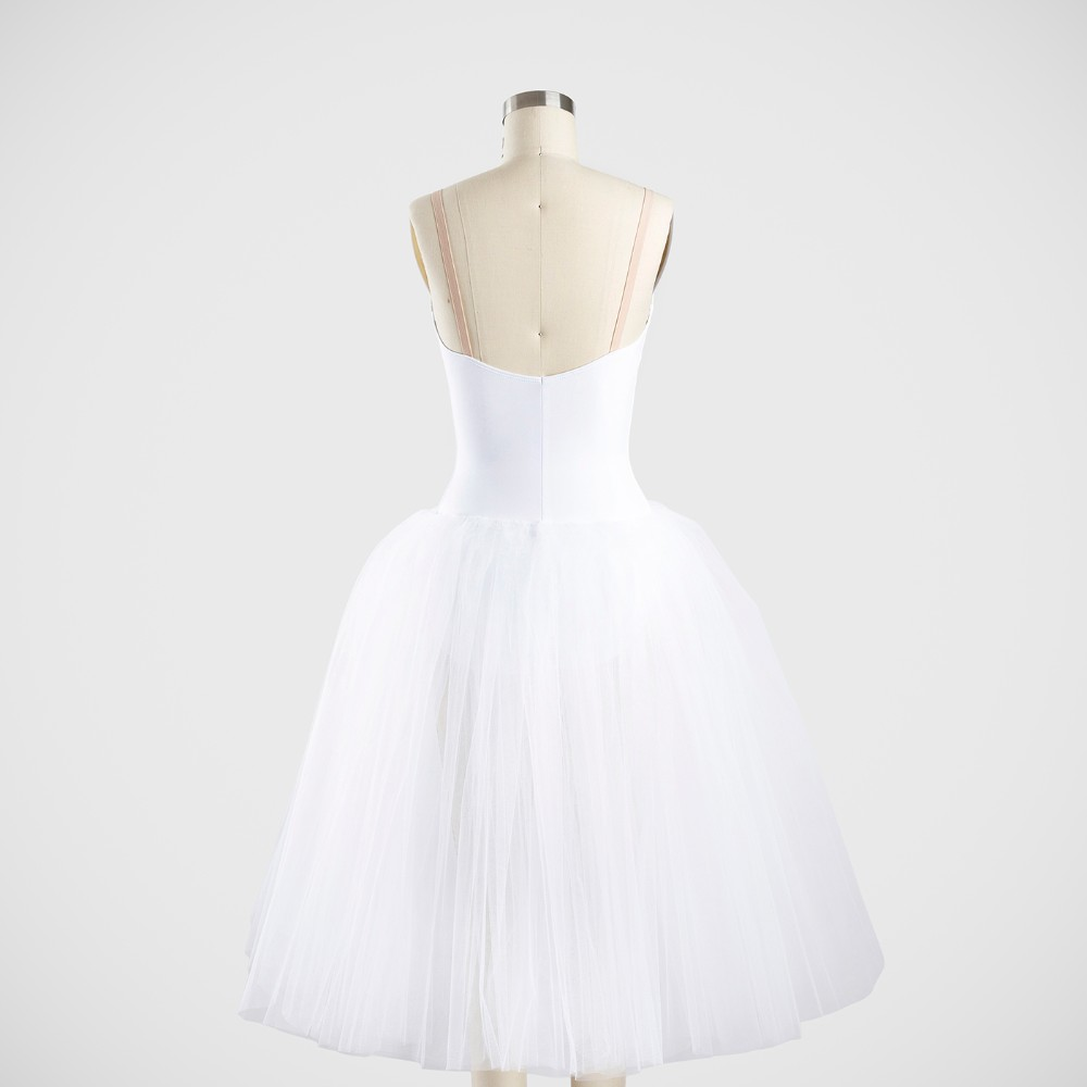 Classical Tutu with Bodice - 7 Layer Net Skirt - Nude